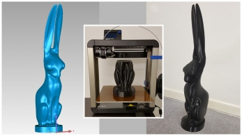 3d printed hare statued