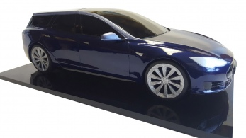 3d printed model of qwest tesla shooting brake