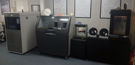 A selection of S-CAN's 3D printers