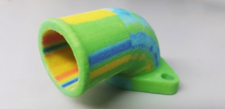Using a full colour 3D prints to show a devitation analysis on an inspected part